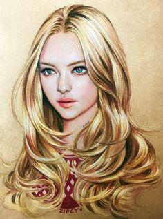 Portrait Sketches, Pencil Portrait, Portrait Art, Girl Face Drawing, Face Art, Digital Art Girl, Digital Portrait, Girly Drawings, Art Drawings