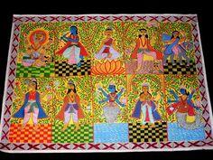 Dasha Avatar Madhubani Paintings
