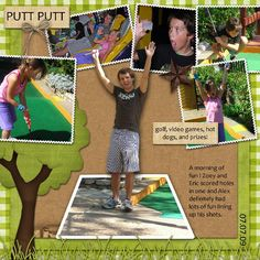 putt putt scrapbook - Google Search
