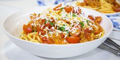 Cherry tomatoes, rich Italian sausage and bucatini pasta make dinner quick, easy and flavorful. Cherry Tomato Sauce, Cherry Tomatoes, Bucatini Recipes, Bucatini Pasta, Penne, Italian Dishes, Italian Recipes, Italian Meals, Italian Pasta