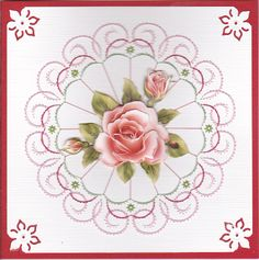 Stitched Card by Yvonne van der Brugge