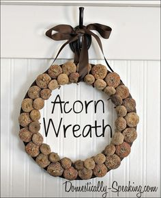 Acorn Wreath @ Domestically Speaking
