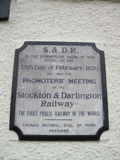 The first public railway in the world was in Stockton and Darlington. | 26 Reasons Teesside Is The Most Glorious Part Of The North-East