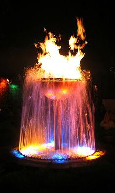 Fire fountain at Pat O'Brien's - New Orleans, Louisiana.