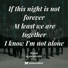 Alan Walker Alone lyrics