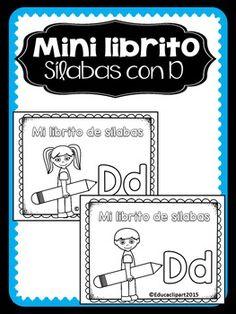 "Sílabas - Mini librito sílabas con ll / Spanish Syllables mini book digraph ""Ll"" Vowel Activities, Pre K Activities, Book Letters, Letter K, Mini Books, Bilingual Classroom, Balanced Literacy, Dual Language, Syllable"