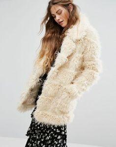 Glamorous - Cappotto in pelliccia sintetica a pelo lungo