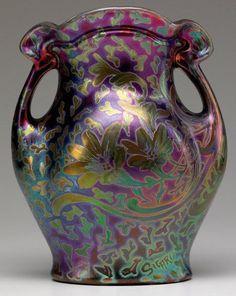 WELLER Sicard   Two-handled vase