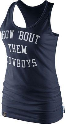 Dallas Cowboys Women's Navy Nike Tri-Blend Fan Culture Racer Tank