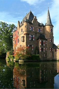 Castle Satzvey, Mechernich, North Rhine-Westphalia, Germany