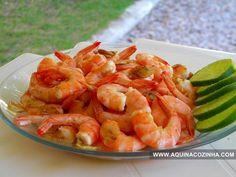 Camarão Alho e Óleo Seafood Recipes, Keto Recipes, Cooking Recipes, Healthy Recipes, Brazilian Dishes, Confort Food, Portuguese Recipes, Easy Cooking, No Cook Meals