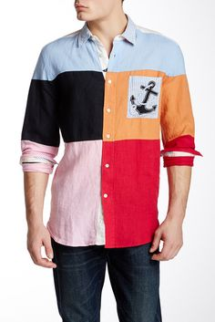 Faconnable Linen Multicolor Special Shirt