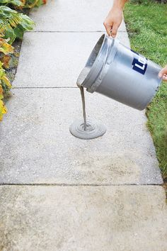 How to Resurface Worn Concrete is part of Concrete walkway - Learn how to resurface worn concrete with this stepbystep guide from This Old House DIY concrete refinishing is fairly simple and results in a durable surface Concrete Patios, Concrete Walkway, Concrete Projects, Concrete Floors, Outdoor Projects, Home Projects, Outdoor Tile Over Concrete, Poured Concrete Patio, Concrete Curbing