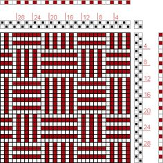 Hand Weaving Draft: Figure 1691, A Handbook of Weaves by G. H. Oelsner, 2S, 2T - Handweaving.net Hand Weaving and Draft Archive