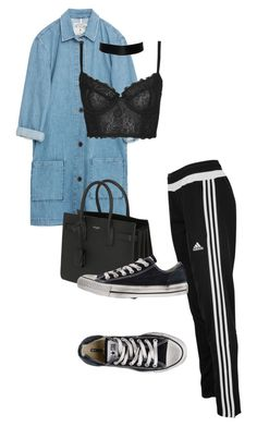 """""""Untitled #701"""" by sadgirllmaya ❤ liked on Polyvore featuring Zara, Topshop, adidas, Yves Saint Laurent and Converse"""