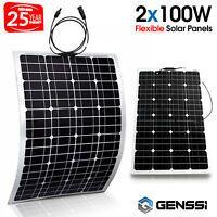 100 Watt Flexible Solar Panel Rv Kit With 10a Led Controller 12 24v Off Grid Ebay Flexible Solar Panels Solar Energy Panels Solar Panels