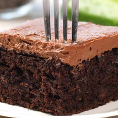 Put your summer zucchini to good use and make this healthy Chocolate Zucchini Cake. You will never know it is made with zucchini! It is super rich and moist and worth every bite, I mean it is zucchini so eat up!