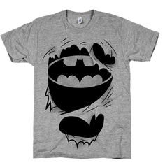 The True Batman, Comics, Nerdy, Geek, Shirts, Top, Clothing, Womens, Mens, Super, Hero, Funny, Ripped, American Apparel on Etsy, $21.00