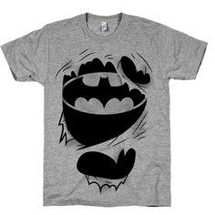The True Batman, Comics, Nerdy, Geek, Shirts, Top, Clothing, Womens, Mens, Super, Hero, Funny, Ripped, American Apparel on Etsy, $21.00