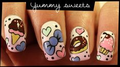 How to do yummy sweets nail arts step by step DIY tutorial instructions, How to, how to do, diy instructions, crafts, do it yourself, diy website, art project ideas