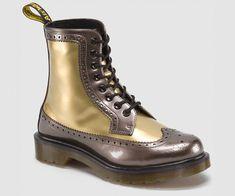 433c42e28b2 HARRIE Doc Marten boot in pewter + gold, spectra patent #docmartensstyle Dr  Martin Boots