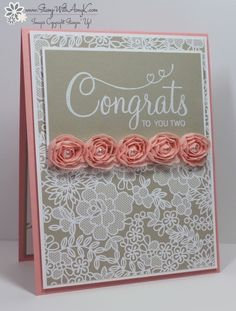 March 25, 2015 Stampin' Up! Your Perfect Day Congrats Card Something Borrowed DSP, Artisan Embellishment Kit