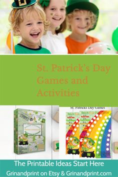 Looking for Kid-friendly St. Patrick's Day Party Ideas? How about a St. Patrick's Day Scavenger Hunt or a St. Patrick's Day Activity that involves candy, cereal and dice? Want to make your St. Patrick's Day Party Table look festive? Use our St. Patrick's Day Scratcher Cards for your guests! We love all of these for a Classroom or Birthday Party too!  #stpatricksdaygames #stpatricksdayactivities #leprechaungames Printable Tags, Printable Invitations, Printables, Halloween Party Games, Birthday Party Games, Birthday Invitations Kids, Halloween Invitations, Christmas Activities For Kids, Fun Activities For Kids