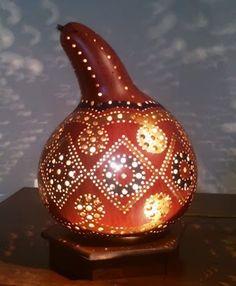 Authentischen Kürbis Lampen Autentici Lampade Zucca Authentic Gourd Lamp Sold / Ausverkauft 79 €