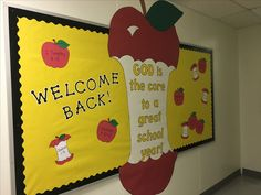 Back to School bulletin board for Heritage Christian Academy