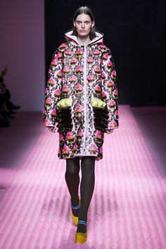 Masterfully done, Mary Katrantzou presents opulent baroque inspired pattern, intricate paisleys, futuristic embellishments, innovative quilting techniques and bright popping fur for AW15.