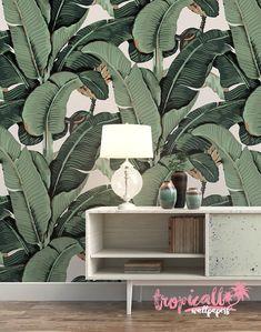 Banana Leaf Wallpaper Non Woven Wallpaper Floral von TropicWall Martinique style Tapete online Shop Etsy