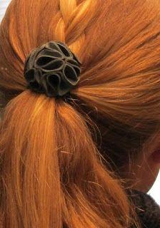 Leather and Felted Wool Hydrangea Hair Elastics - The Gunny Sack