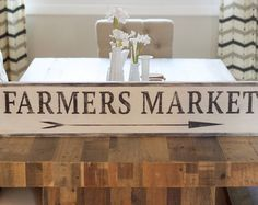 Farmers Market Sign Kitchen Sign Wooden Farmers by EmeraldMarket