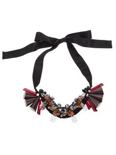 MARNI Resin And Ribbon Necklace
