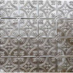Beautiful Tin Ceiling or Wall Tile - Peel and Stick removable Decal