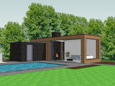 Backyard Cabana, Small Backyard Pools, Backyard Patio Designs, Swimming Pools Backyard, Modern Pergola Designs, Modern Gazebo, Modern Pool House, Modern Pools, Pool House Designs