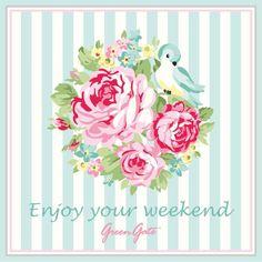 Enjoy your weekend Pip Studio, Decoupage Vintage, Decoupage Paper, Cath Kidston Wallpaper, Weekend Greetings, Bedroom Crafts, Floral Printables, Free Printables, Printing Labels