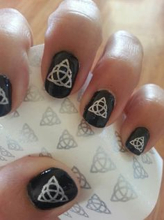 69 SILVER TRIQUETRAS Nail Art Decals  PROFESSIONAL by NorthofSalem, $6.99