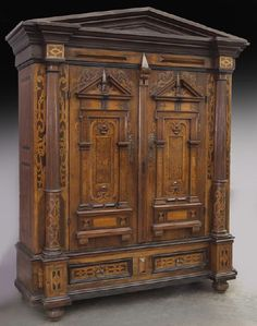 I just discovered this Late 17th C. Alsacienne walnut inlaid armoire, on LiveAuctioneers and wanted to share it with you: www.liveauctioneers.com/item/50046577