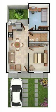 45 New Ideas House Plans Planos De Casas 2 Bedroom House Plans, Sims House Plans, Small House Floor Plans, Home Design Floor Plans, House Layout Plans, Dream House Plans, House Layouts, House Construction Plan, Model House Plan