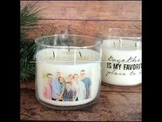 Learn how to make personalized candles with your favorite photo using easy an packing tape transfer! A handmade gift in just 15 minutes for under 5 bucks.