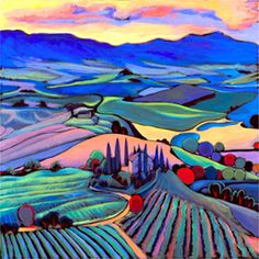 Sunset Tuscany Daniel Ng :: Art Studio