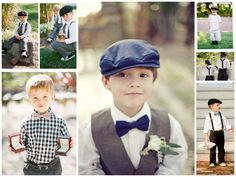 Page boy cap, suspenders, and bow tie for a vintage ring bearer- precious