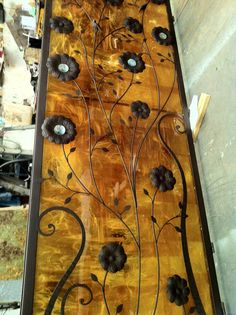 Custom wall panel. Fusion glass and wrought and forged iron.  Info: maxkanet@gmail.com
