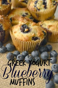 Greek Yogurt Blueberry Muffins #recipes.  Easy blueberry Muffin recipe.  Healthier muffin recipe.  Healthy muffin recipes.  Breakfast ideas. #LittleChanges  #IC