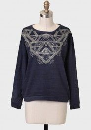 Aztec Empire Embroidered Sweatshirt