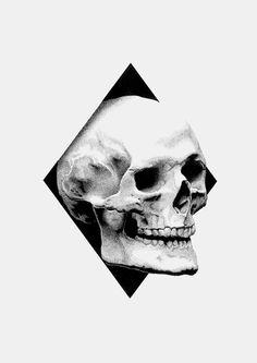 Skull Black Rotring Ink - Dots 0,3 mm - Schoellershammer white paper, 200 gr. Fer Alcazar #skull #illustration #pointillism #stippling #art #b&w #dots #inspiration