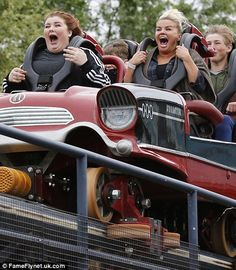 Like sisters: They're incredibly close to one another and Kerry Katona and her 14-year-old daughter Molly McFadden spent a quality day together at the world famous Thorpe Park theme park earlier in the week