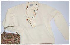 Vintage Ivory Soft Wool Long Sleeved Tie by ChrisMartinDesigns