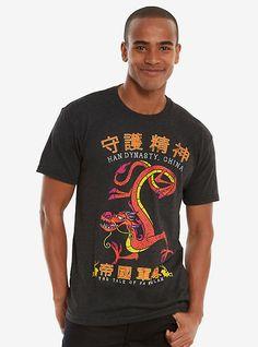 Disney Mulan Mushu T-Shirt, BLACK